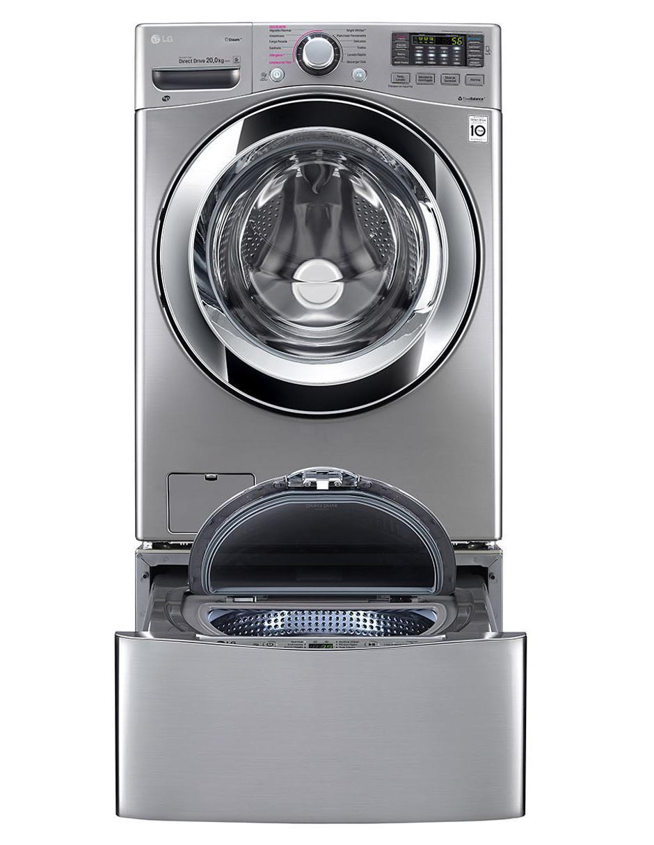 diseño superior mayor selección de tienda de descuento Lavadora LG doble carga TWINWash 20 +3.5 Kg Acero WD20WVS6.WD100CW